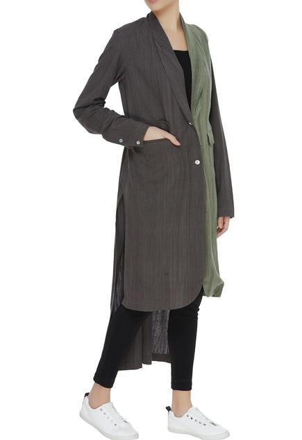 Dual toned kota cotton jacket