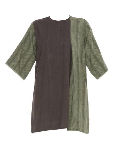 Dual toned khadi tunic