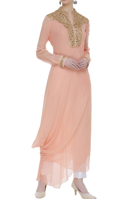 Drape style kurta with sequin work