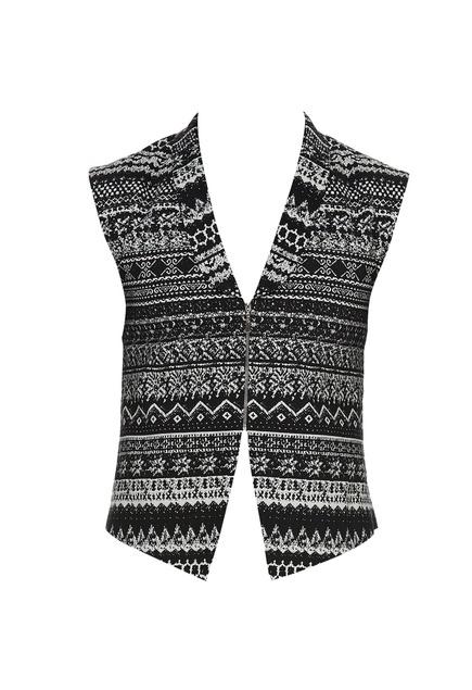 Abstract print waistcoat