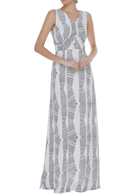 Hand block printed gown