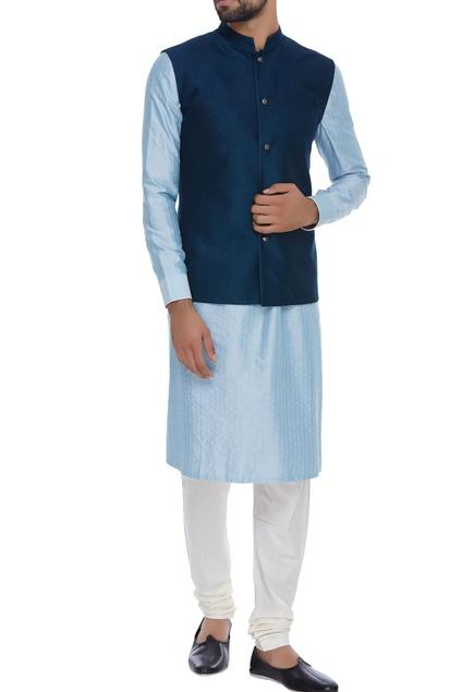 Resham embroidered nehru jacket