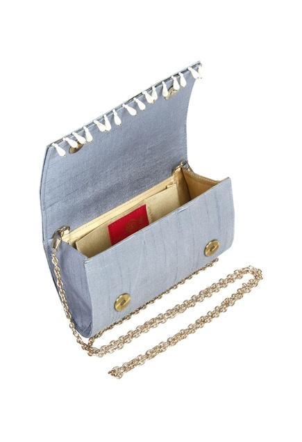 Pearl & sequin clutch
