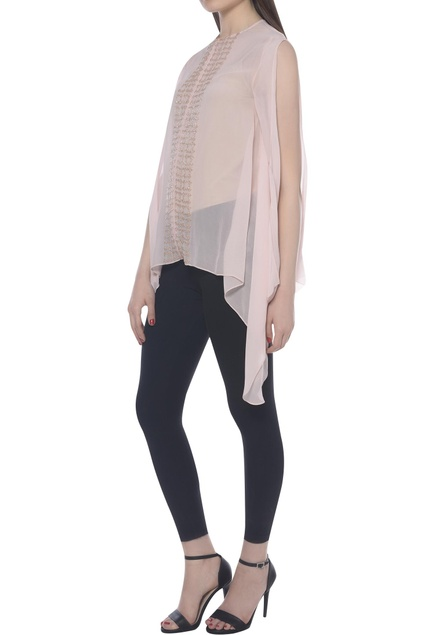 Split sleeve asymmetric top