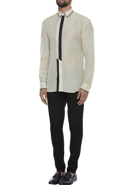 Organic linen monochrome shirt