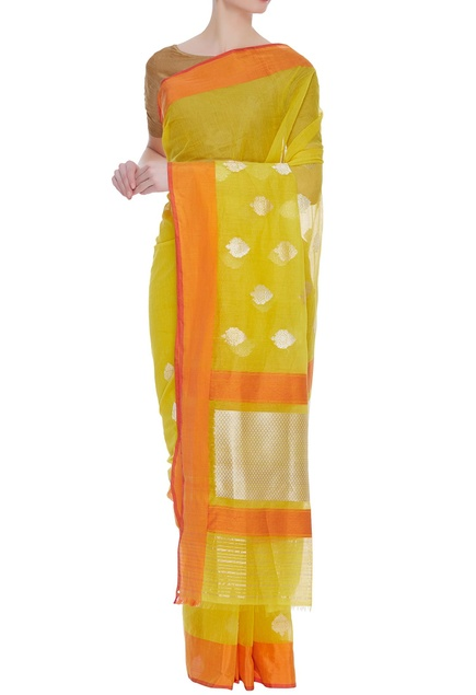 Sunshine banarasi cotton silk sari