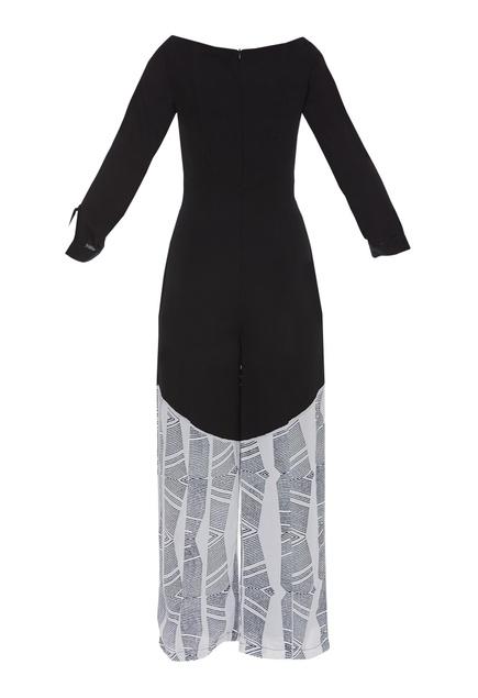 Block printed jumpsuit