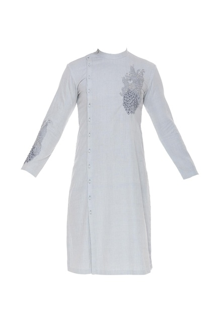 Embroidered kurta with slits