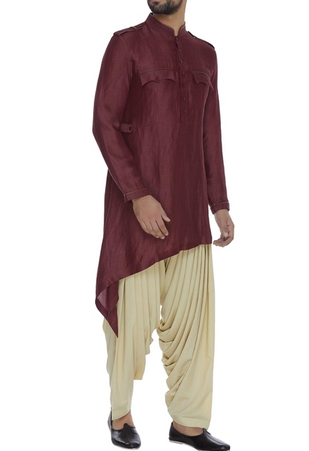 Kurta with side drape