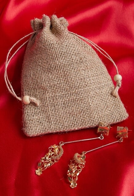 Long statement dangler earrings