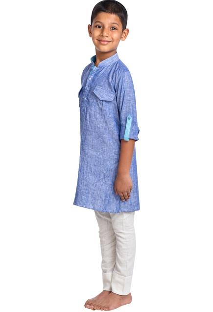 Denim kurta with trouser