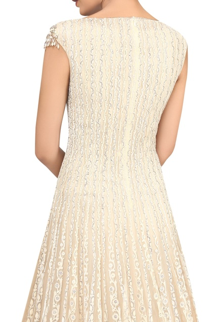 Lazer cut crystal embellished gown