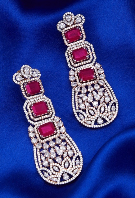 Stone Embellished Earrings