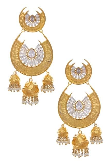 Bead cystal earrings