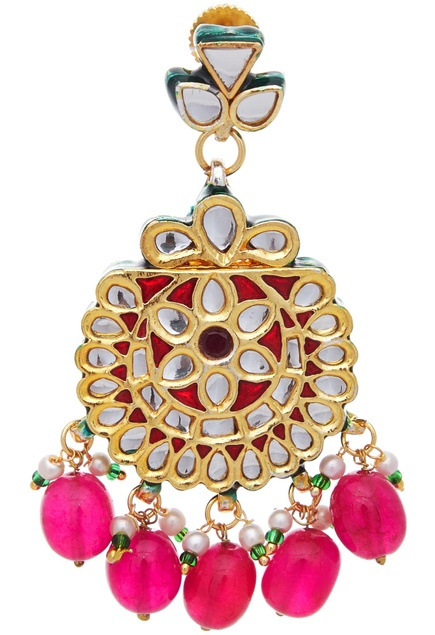 Kundan & faux pearls necklace & earring set