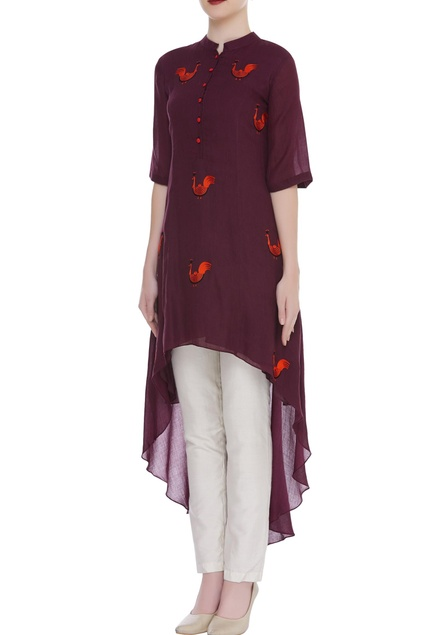 Duck motif Thread Embroidered Tunic