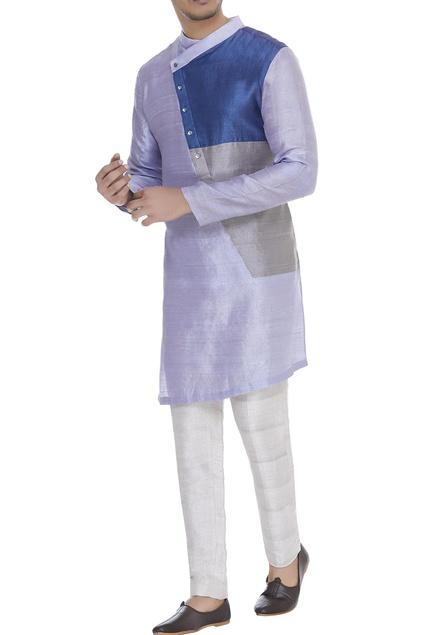 Colour block kurta