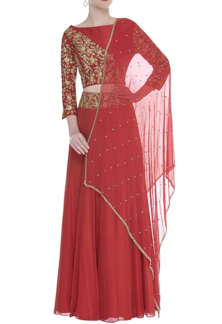 Zari Embroidered Lehenga Set