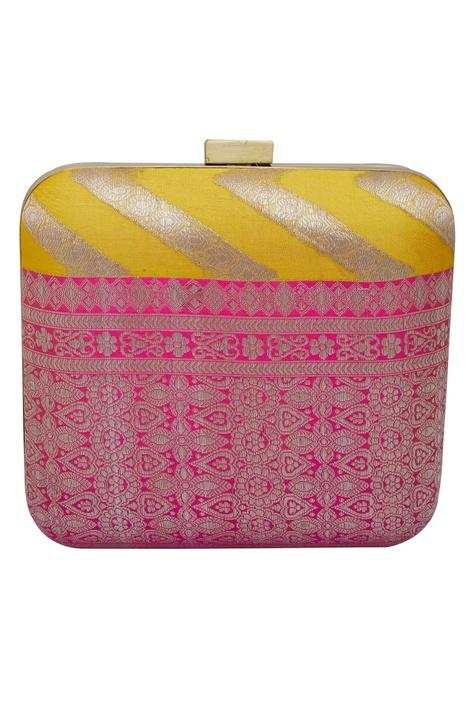 Handwoven square box clutch