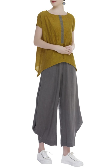 Asymmetric Flared Pants