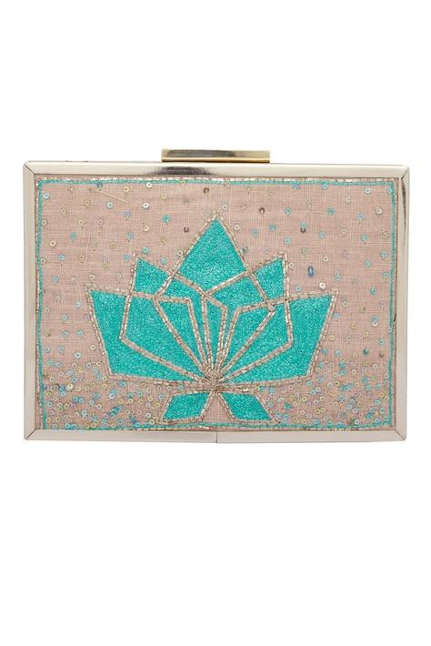 Pitta Hand Embroidered Clutch Cum Sling bag