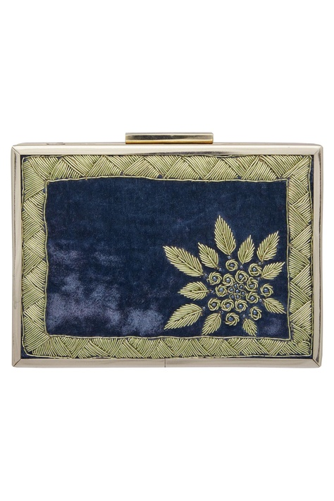 Zardozi Hand Embroidered Clutch Cum Sling bag