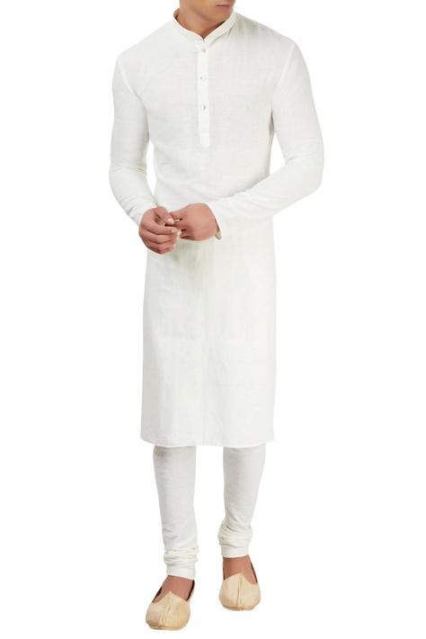 White cotton khadi churidar
