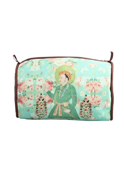 Sea green sultan travel pouch