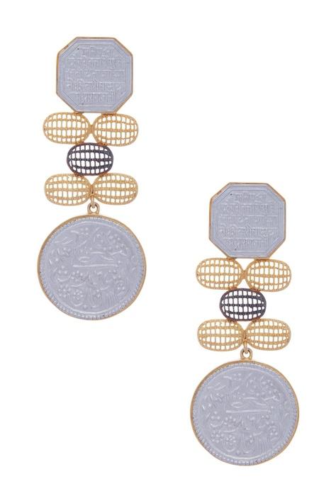 Scripted Dangler Earrings