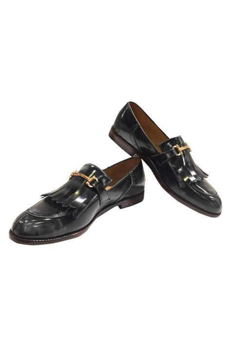 Block Heel Tassel Loafers