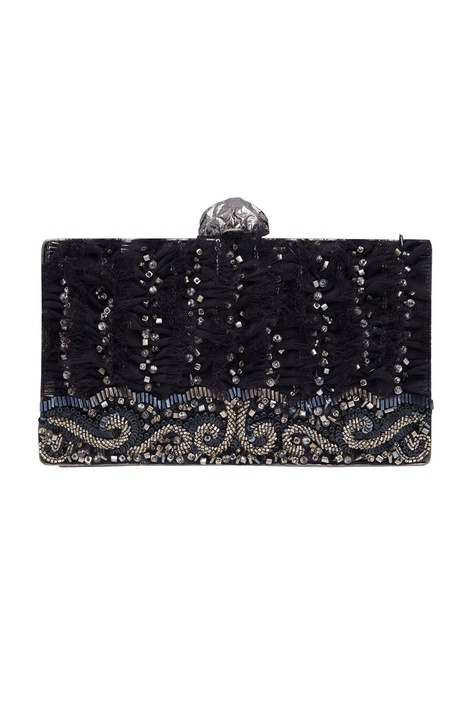 Handmade embroidered clutch