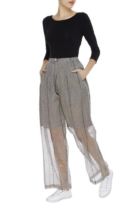 Kota silk high waist trousers