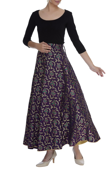 Brocade maxi skirt