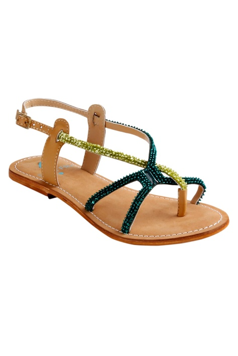 Beaded Strap Sandals