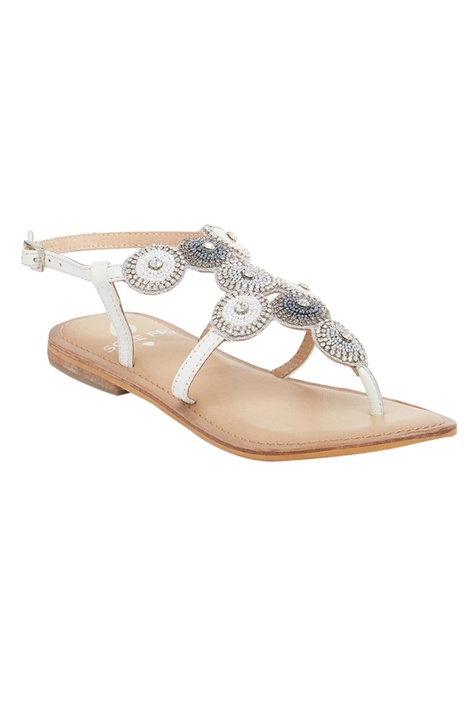 Beaded Back Strap Sandals
