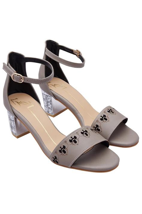Stone Studded Block Heels