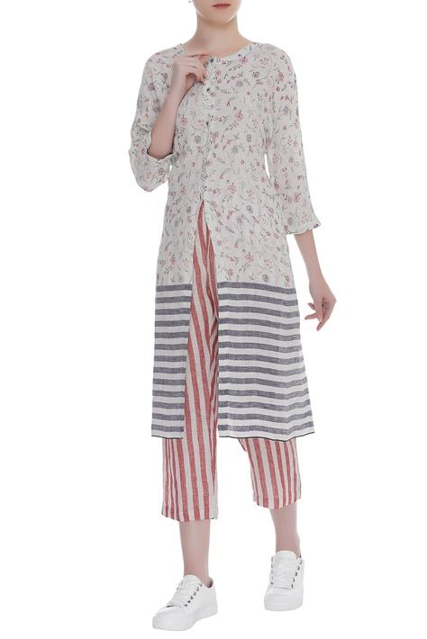 Stripe print pants