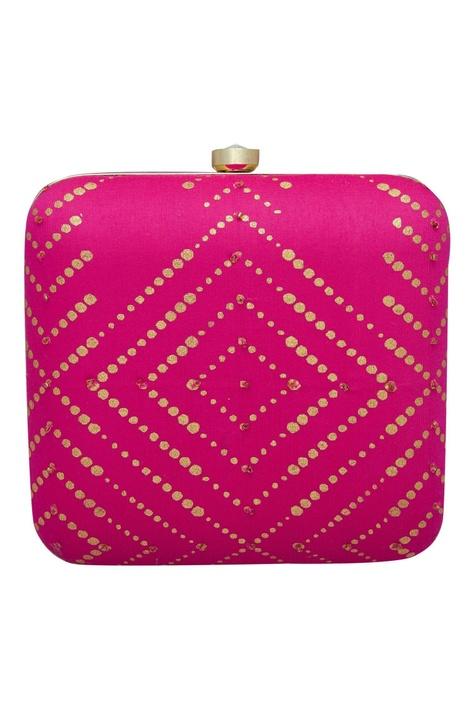 Bead embellished clutch box