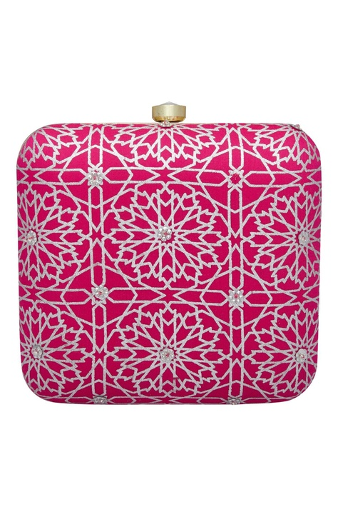 Printed clasp closure clutch