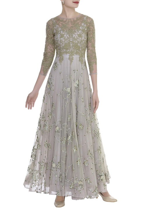 Floral Dori Embroidered Gown