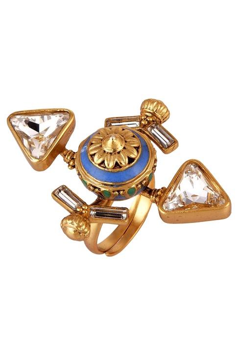 Baroque adjustable ring