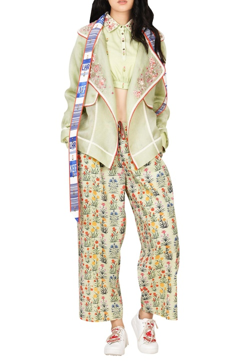Floral Thread Embroidered Jacket