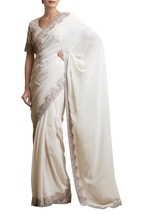 Sari with Embellished Border & blouse