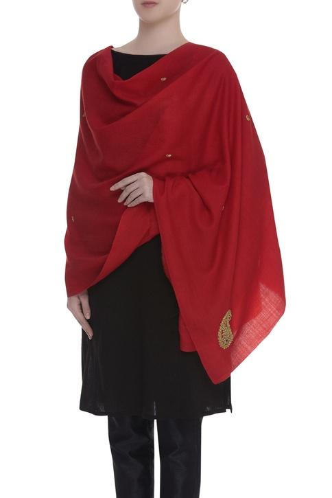 Zardosi hand embroidered shawl
