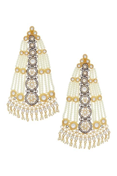 Kundan bead earrings