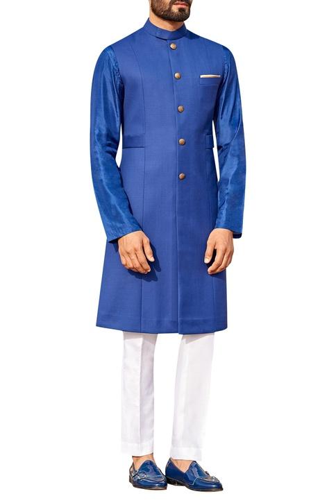 Sherwani with gold button & pant set