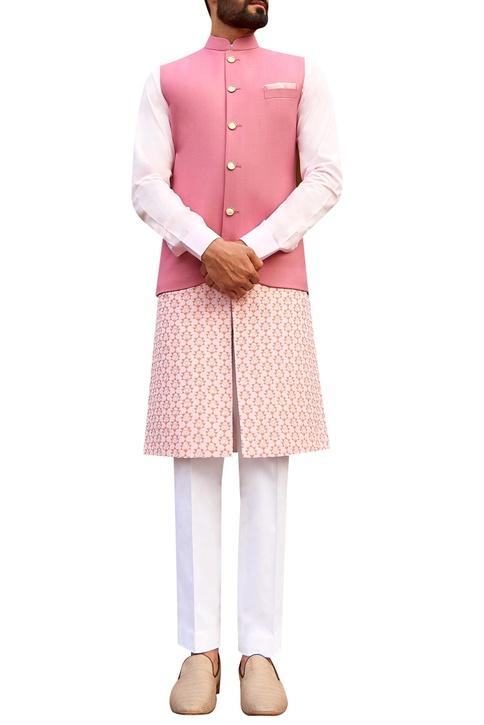 Sherwani set with detachable kurta panel