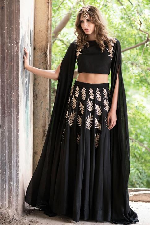 Black lehenga with blouse