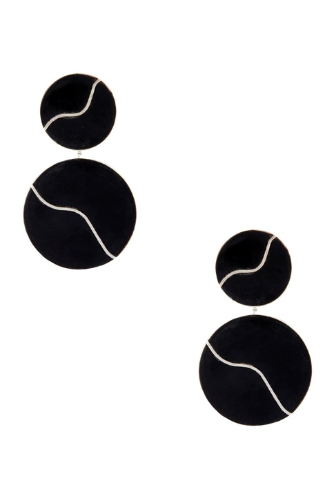 Gold plated black onyx earrings