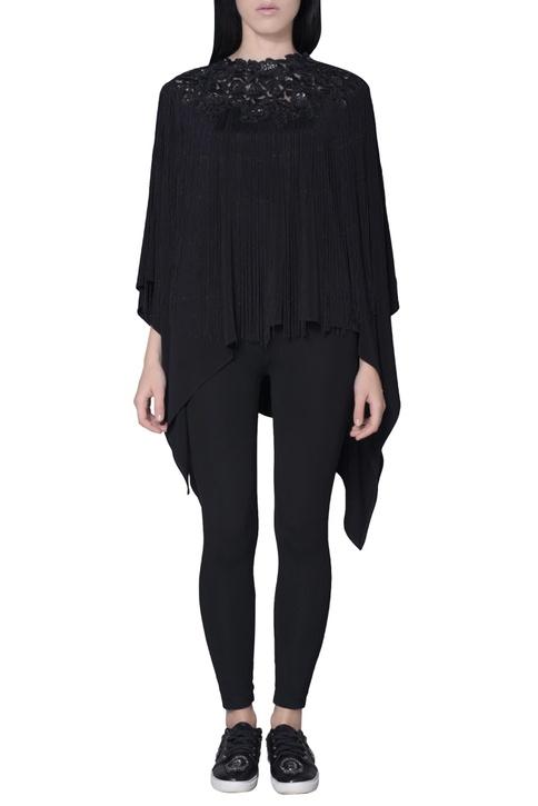 Black fringe style cape